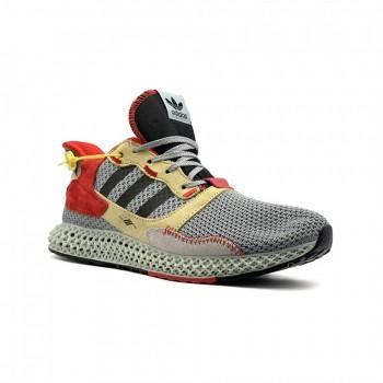 Кроссовки  Adidas ZX 4000 4D Grey-Red-Yellow