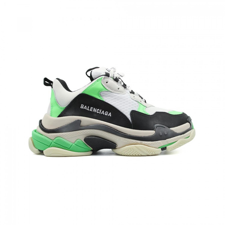 Женские кроссовки Balenciaga Triple S Neon Green White