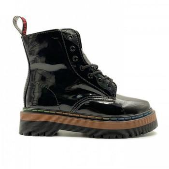 Женские ботинки Dr. Martens Jadon Patent Rainbow Черные