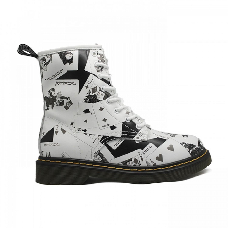 Women's Winter Boots Dr. Martens White/Black
