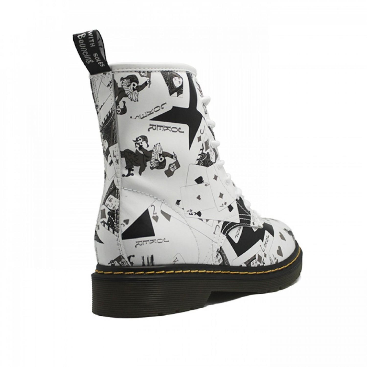 Women's Winter Boots Dr. Martens White/Black