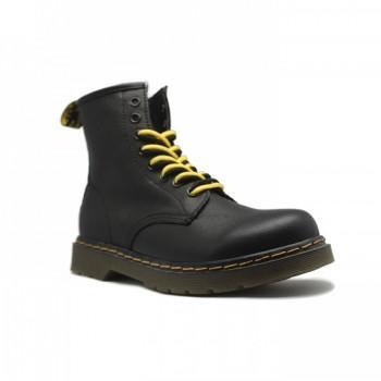 Ботинки Dr. Martens с мехом Черные