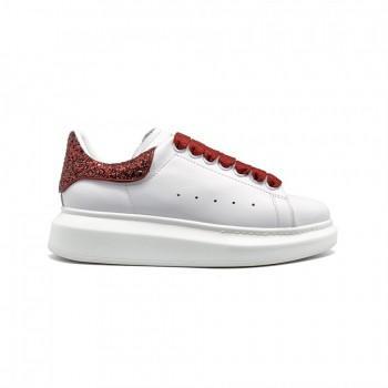 Кроссовки Alexander McQueen Luxe Glitter Red