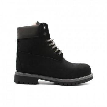 Женские ботинки Timberland 10061 с мехом Черные
