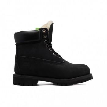 Мужские ботинки Timberland 10061 с мехом Черные