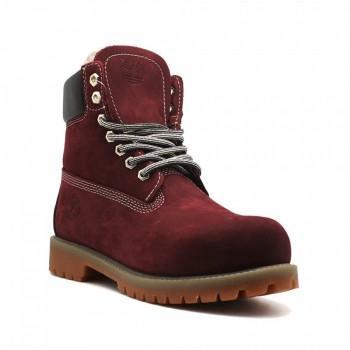 Женские ботинки Timberland 10061 с мехом Бордо