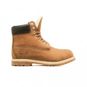 Женские ботинки Timberland 10061 с мехом Какао