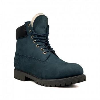 Мужские ботинки Timberland 10061 с мехом Синие