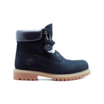 Женские ботинки Timberland 10061 с мехом Синие
