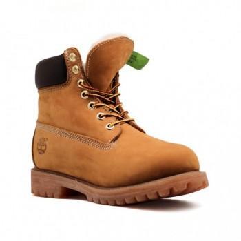 Мужские ботинки Timberland 10061 с мехом Рыжие