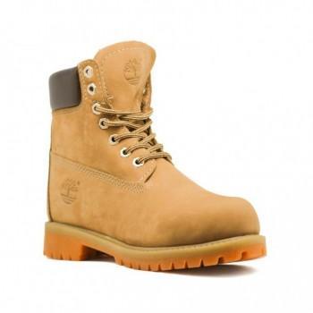 Женские ботинки Timberland 17061 с мехом Желтые