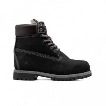 Женские ботинки Timberland 17061 с мехом Черные