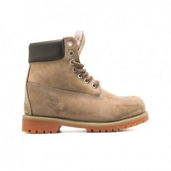 Женские ботинки Timberland 10061 с мехом Капучино