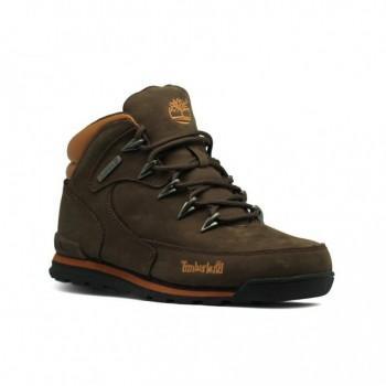 Женские ботинки Timberland с мехом Euro Sprint Коричневые
