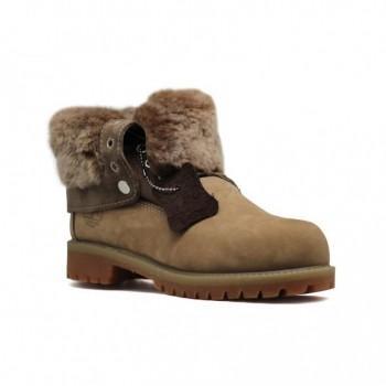 Женские ботинки Timberland с мехом Teddy Albina Какао