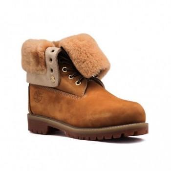 Женские ботинки Timberland с мехом Teddy Albina Рыжие