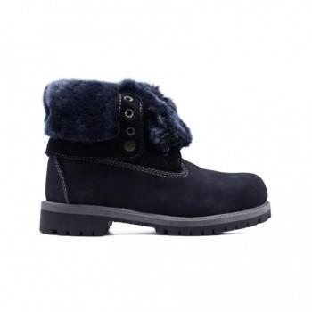 Женские ботинки Timberland с мехом Teddy Albina Синие