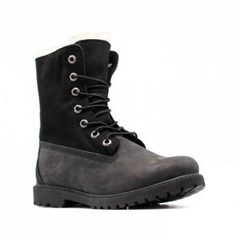 Женские ботинки Timberland с мехом Teddy Fleece Черные