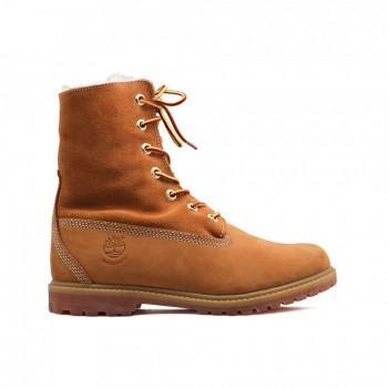 Женские ботинки Timberland с мехом Teddy Fleece Рыжие
