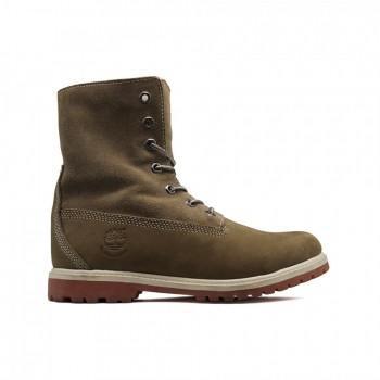 Женские ботинки Timberland с мехом Teddy Fleece Оливковые
