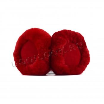Меховые наушники Earmuff Красные