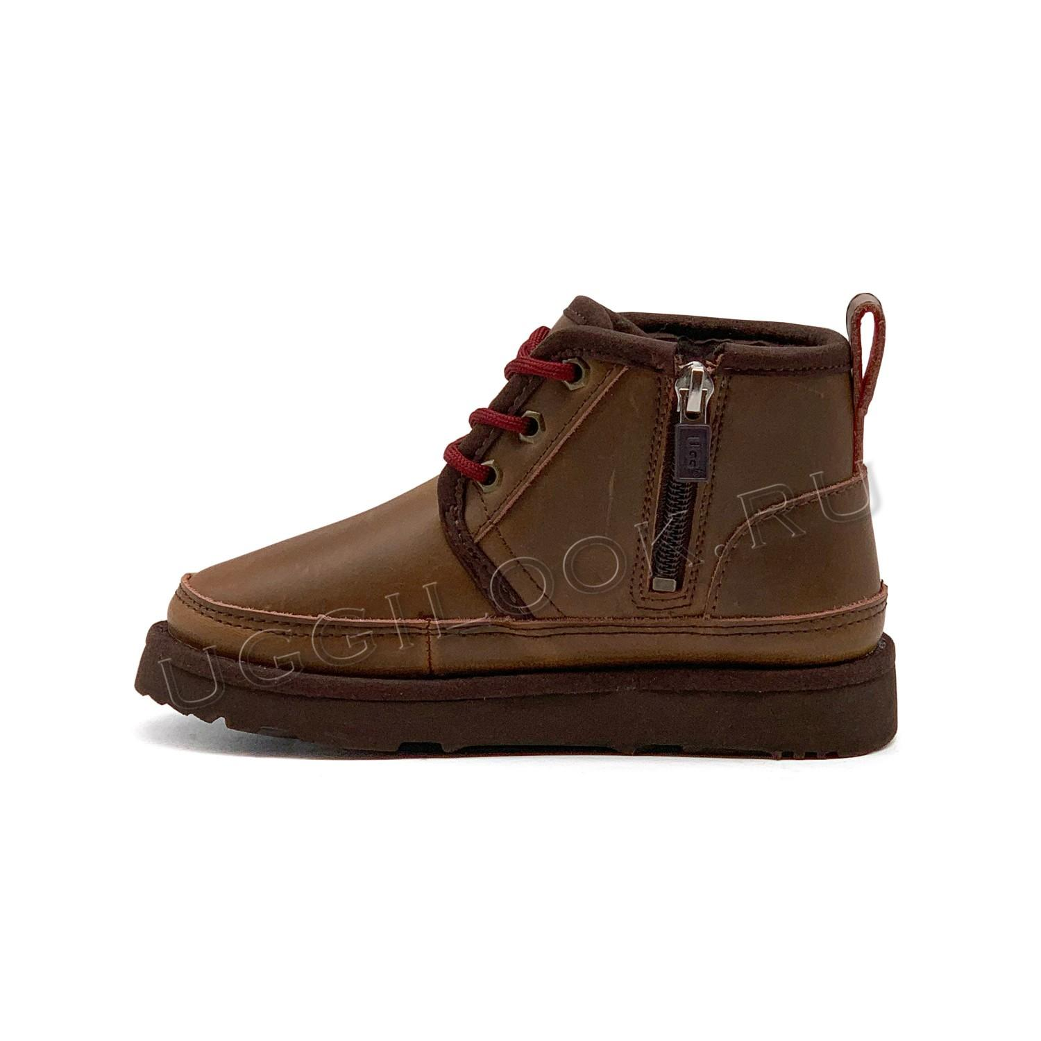 Neumel II Boot for Kids Leather Grizzly