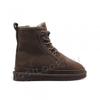 Ботинки детские на шнурках Neumel Коричневые