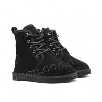 Ботинки детские на шнурках Neumel Черные