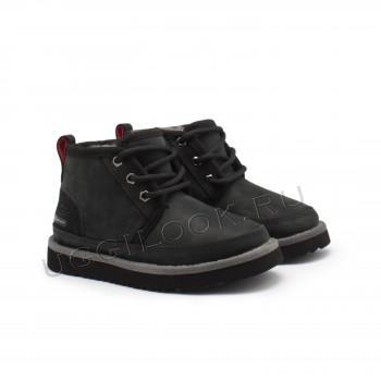 Ботинки детские на шнурках и молнии Neumel Черные
