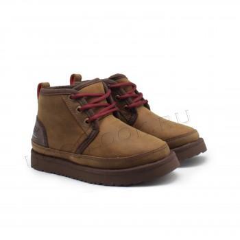 Ботинки детские на шнурках и молнии Neumel Рыжие