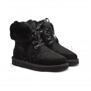 Женские ботинки на шнурках Liana черные