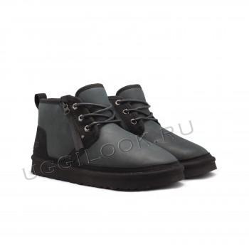 Мужские ботинки обливные Neumel Zip с молнией Черные