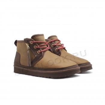 Мужские ботинки обливные Neumel Zip с молнией Рыжие