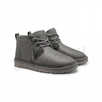 Мужские ботинки обливные Neumel Zip с молнией Серые