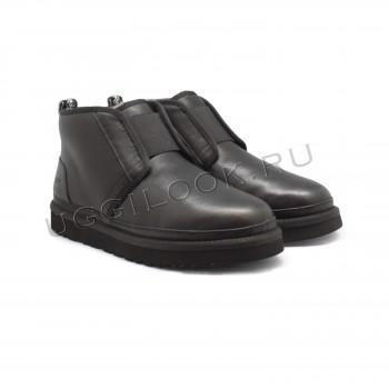 Мужские ботинки Neumel Flex кожаные Черные