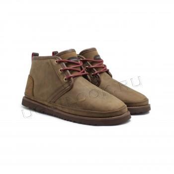 Мужские кожаные ботинки Neumel Waterproof Коричневые