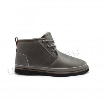 Мужские кожаные ботинки Neumel Waterproof Серые