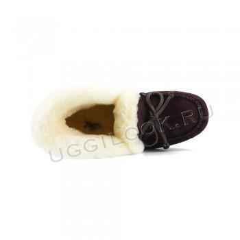Женские мокасины Алена коричневые