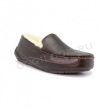 Мужские мокасины коричневые кожаные