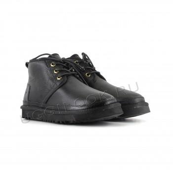 Женские ботинки UGG обливные черные