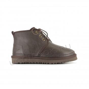 Женские ботинки UGG обливные коричневые