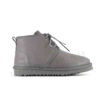 Женские ботинки UGG обливные серые