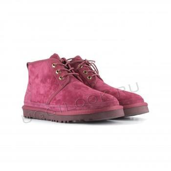 Женские ботинки UGG бордовые