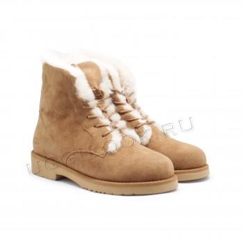 Женские ботинки на шнурках Quincy Рыжие