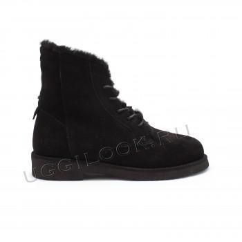 Женские ботинки на шнурках Quincy Черные