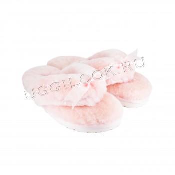 Меховые вьетнамки Fluff Flip Flop Light Pink