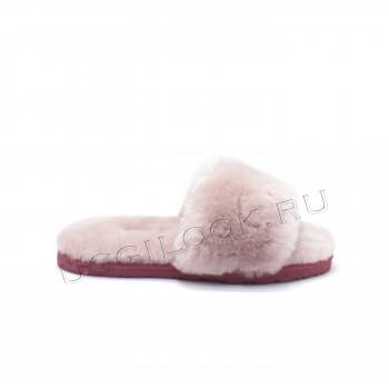 Женские меховые тапочки Fluff Slides Pink