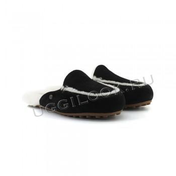 Женские меховые тапочки Lane Slip-On Loafer Черные