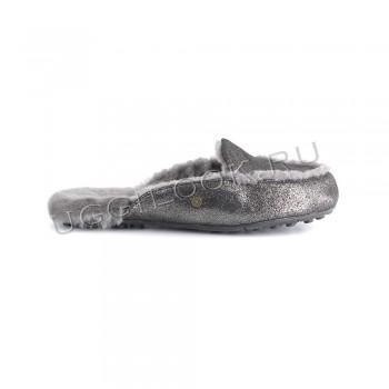 Женские меховые тапочки Lane Slip-On Loafer Черный глиттер