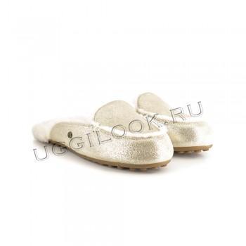 Женские меховые тапочки Lane Slip-On Loafer Золото